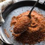 Spoon scooping up homemade BBQ rub