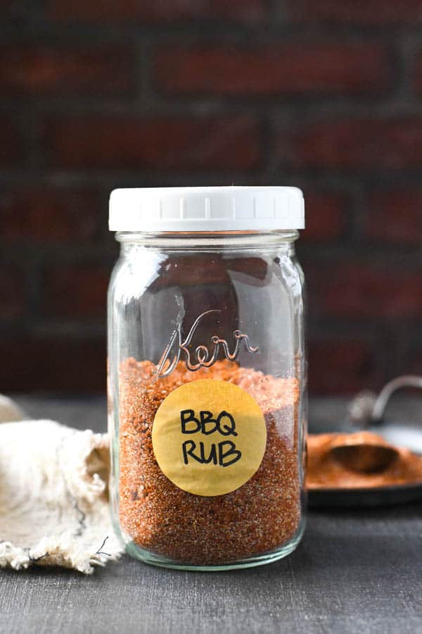 Jar of homemade bbq rub
