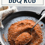 BBQ rub on a tray with text title box at top