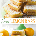 Long collage image of Lemon Squares