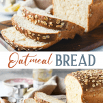 Long collage of Oatmeal Bread