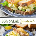 Long collage image of Egg Salad Sandwich