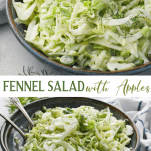 Long collage image of Fennel Salad with Apples
