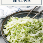 Bowl of fennel salad with text title box at top