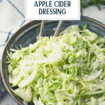 Close side shot of fennel slaw with text title overlay