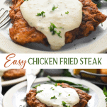 Long collage image of Chicken Fried Steak