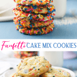 Long collage image of Funfetti Cookies