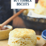 Side shot of a 3 ingredient biscuit recipe with text title overlay