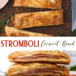 Long collage image of Stromboli Crescent Braid
