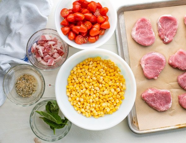 Ingredients for pork medallions recipe