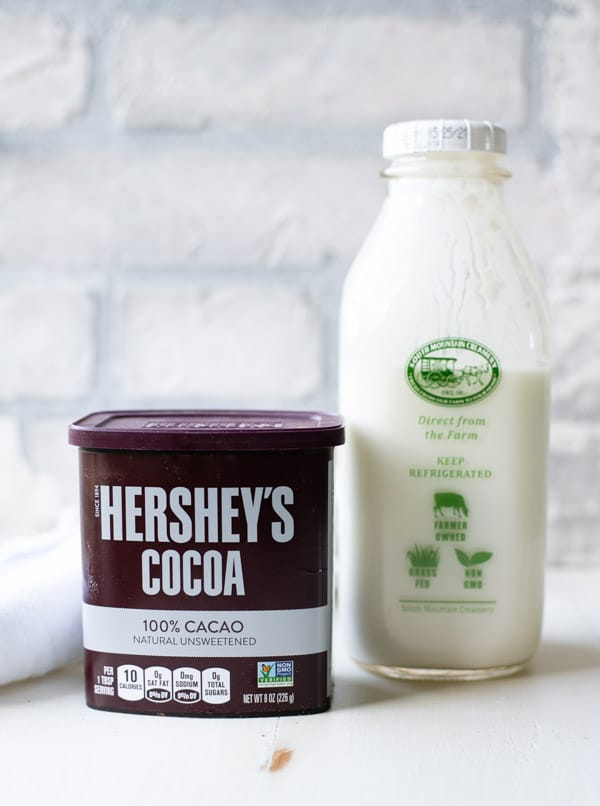 Ingredients for buttermilk chocolate cake