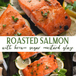 Long collage image of Roasted Salmon
