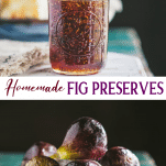 Long collage image of fig preserves