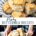 Long collage image of flaky biscuits