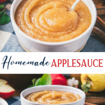 Long collage image of how to make applesauce